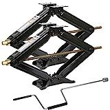 Weize Camper RV Trailer Stabilizer Leveling Scissor Jacks With Handle -24'- 5000lbs - Set Of 2