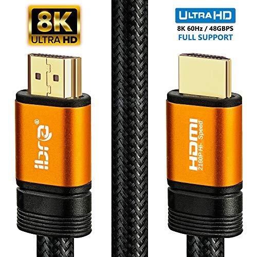 Cavo HDMI di Orange IBRA 2.1 Cavo 8K ultra veloce a 48 Gbps | Supporta...
