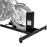 Best Choice Products Adjustable Motorcycle Stand Wheel Chock Upright w/ 1800lb Capacity