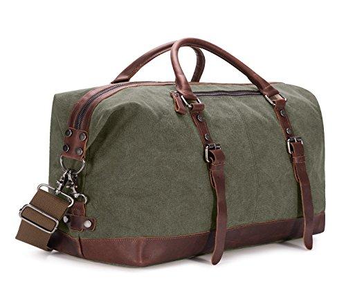 BAOSHA Leather Travel Tote Duffel Bag