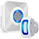 Fosmon WaveLink 51005HOM Wireless Home Security Driveway Alarm, Motion Sensor Detect Alert, Store Door Entry Chime Doorbell (500 Feet, 58 Tunes, 5 Volume Levels, LED Indicators) 1 Motion Detector