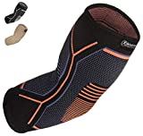 Kunto Fitness Elbow Brace Compression Support Sleeve for Tendonitis, Tennis Elbow, Golf Elbow Treatment -...