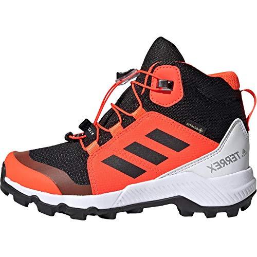 adidas Unisex-Kinder Terrex MID GTX K Wanderschuhe, Negbás/Negbás/Rojsol, 34...