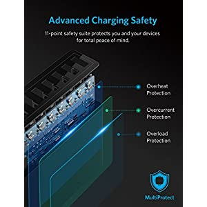 Anker 60W 10-Port USB Wall Charger, PowerPort 10 for iPhone X / 8/ 7 / 6s / Plus, iPad Pro / Air 2 / mini, Galaxy S7 / S6 / Edge / Plus, Note 5 / 4, LG, Nexus, HTC and More