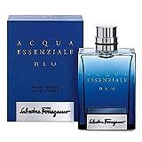 Salvatore Ferragamo Acqua Essenziale Blu Eau de Toilette Spray for Men, 3.4 Ounce
