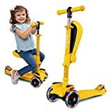 KicksyWheels Scooters for Kids - 3 Wheel Toddler Scooter for Boys & Girls - Toddlers and Kids Toys...