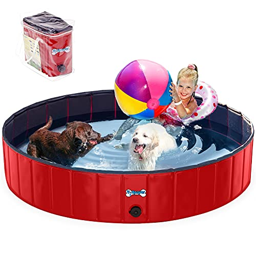 V-HANVER Foldable Dog Pool Collapsible Heavy Duty...