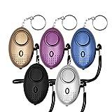 cherrypop Safe Sound Alarma personal, paquete de 5 llaveros de alarma de seguridad personal de 140 dB con luces LED, alarma de seguridad de emergencia para mujeres, hombres, niños, ancianos