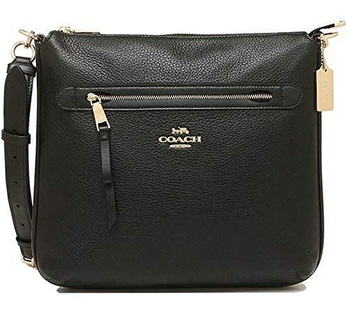 "51EEQZZ9jjL Refined pebble leather Inside multifunction pocket| Zip-top closure, fabric lining Outside zip pocket| Adjustable strap with 20"" drop for shoulder or crossbody wear"