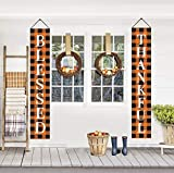 Thanksgiving Decorations - BLESSED THANKFUL Buffalo Check Plaid Banners Porch Signs Garden Flags - Rustic Fall Decor Outdoor Indoor for Home Farmhouse Classroom Door Window Wall Garden Yard Party