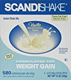 Scandishake Weight Gain Instant Shake Mix Powder, Vanilla, 3 Ounce Packet - Box of 4 by AXCAN SCANDIPHARM INC.