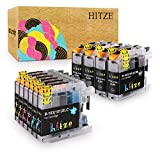 HITZE Compatible Ink Cartridge Replacement for Brother LC103 LC 103 LC101 LC 101 for Brother MFC-J870DW MFC-J470DW MFC-J450DW MFC-J6920DW MFC-J475DW (4 Black, 2 Cyan, 2 Magenta, 2 Yellow, 10-Pack)