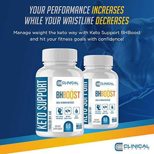Clinical Effects: Keto Support BHBoost - Dietary Supplement for Keto Weight Support - 60 Capsules 2
