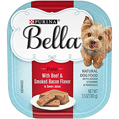 Twelve (12) 3.5 Oz. Tray - Purina Bella With Beef & Smoked Bacon In Savory Juices Adult Wet Dog Food Recipe Features Beef And Smoked Bacon In Savory Juices Features An Antioxidant Blend Tailored For Small Dogs Protein-Rich Recipe Helps To Support Her...