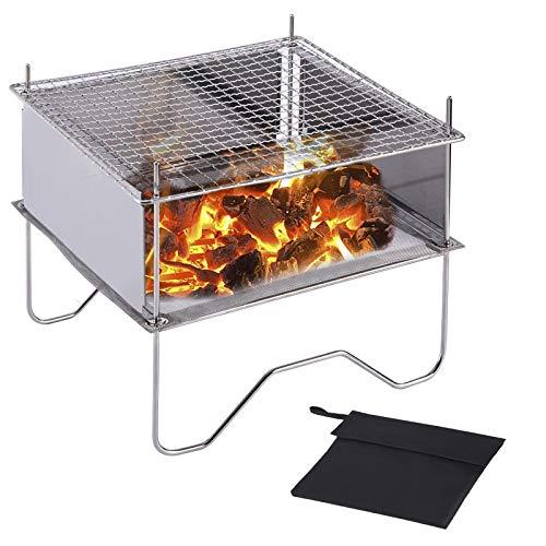 SUCHDECO Brasero Portable pour Extérieur, Réchaud de Camping, Foyer...