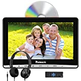 NAVISKAUTO 12' Car DVD Player with Inhalation Drive and Free Headphone Support Sync Screen, AV Out & in, USB TF Card, Resume, Region Free