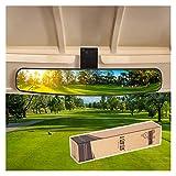 10L0L Wide Rear View Convex Golf Cart Mirror for EZGo, Club Car, Yamaha, Golf Cart Rear View Mirror, Golf Cart Body Wrap