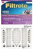 Filtrete MPR 1550 NDP03-5IN-2 DP 20x25x5 AC Furnace Air Filter, Healthy Living Ultra Allergen Deep Pleat, 1-Pack