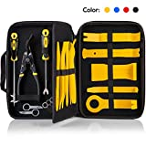 UTOOL 19PCS Trim Removal Tool for Auto Automotive Panel Trim with Organizer, Fastener and Clip Remover, Additional Radio Removal Keys and Tire Gap Thread Remover