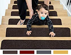 EdenProducts Patent Pending Non Slip Carpet Stair Tread