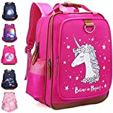 Unicorn Backpack for Girls 15' | Durable and Functional School Book Bag, Perfect Size for Kindergarten or Elementary Pink Back Pack(Unicorn)