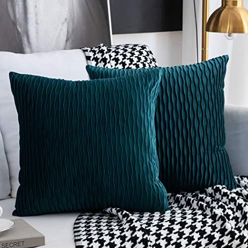 Fodera per Cuscino di tiro Set di 2 Federe per Cuscino Rettangolare Quadrata Decorativa Fodere per Cuscini Moderne in Velluto per Divano Letto Divano Sedia Camera da Letto Soggiorno