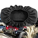 """Winch Cover Waterproof, Heavy Duty 600D Breathable Oxford Fabric Dust-Proof Winch Protection Cover, Compatible with Most 8500-17500 Lbs Electric Winches, Indoor/Outdoor - (21.5"""" x 9.5"""" x 7.5"""")"""