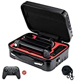 FOLLIM Carrying Storage Case for Nintendo Switch, Deluxe Hard Shell Travel Messenger Bag for Switch Console, Pro Controller & Accessories – Include 12 Games Storage Slots & Shoulder Strap