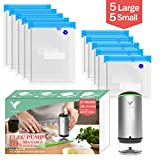 Vacbird Handheld Cordless Food Vacuum Sealer with 10 Pack Reusable Food Bags for Sous Vide Cooking and Food Storage