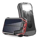 Batterie Externe Solaire, 26800mAh Chargeur Solaire Panneau Solaire Portable...