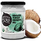 Proudly Pure Virgin & Unrefined Cold-Pressed Coconut Oil | Natural And USDA Organic Farm Produce | For Skin And Hair, For Cooking, Perfect For Household And Everyday Use