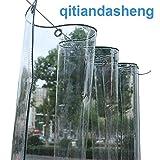 Bâches Bâche Transparente Imperméable En PVC Avec Oeillets, Bâche Transparente Résistante Aux Déchirures pour Jardinerie De Jardin Extérieur (350g / M², 550g / M²) (Color : 0.5mm, Size : 2.4×3m)