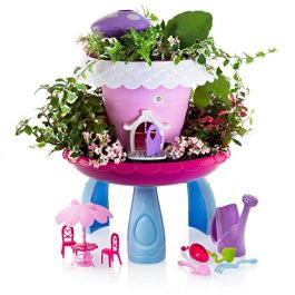 Advanced Play Fairy Garden Kit Kids Gardening Set Indoor Outdoor Play Activity Gardening Tool Set Toys Kids Toddlers Girls Boys Ages 3