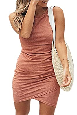 MATERIAL-Polyester+Cotton.The material is well made, which is very comfortable to wear.The dress is very elastic to Hug your figure perfectly ,With The Same Color Lining, Makes Sure Will Not See Through; Suitable for all body types. FEATURES-Ruched b...