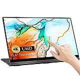 Monitor Porttil Pantalla Tctil 4K, UPERFECT 15,6' Monitor Gaming Porttil Pantalla USB C Mvil UHD 3840 x 2160 con Sensor de Gravedad Pantalla sin Marco de Rotacin Automtica
