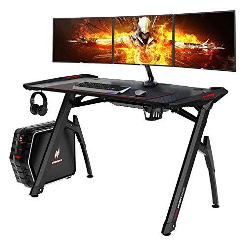 AuAg 47' Gaming Style Desk Computer Home Office Desk Student Table PC...