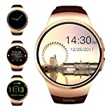Evershop Smart Watch 1.5 inch IPS Touch Screen with SIM Card TF Card Slot - Smart Watches Smartwatch Phone with Sleep Monitor Heart Rate Monitor and Pedometer for iOS Android (Gold)