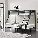 neu.haus] Cadre de lit superposé en métal Armature Massive pour 3...