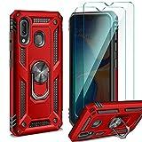 ivencase Samsung Galaxy A20 / A30 ケース + ガラス スクリーン プロテクター [2個パック] 回……