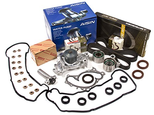 Evergreen TBK257MHVCA Compatible With Toyota Avalon & Lexus ES300 3.0L DOHC 1MZFE Timing Belt Kit Valve Cover Gasket AISIN Water Pump