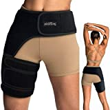 Vriksasana Groin Hip Brace | Sciatica Support Wrap | Hamstring Compression Sleeve for Men and Women for Pulled...