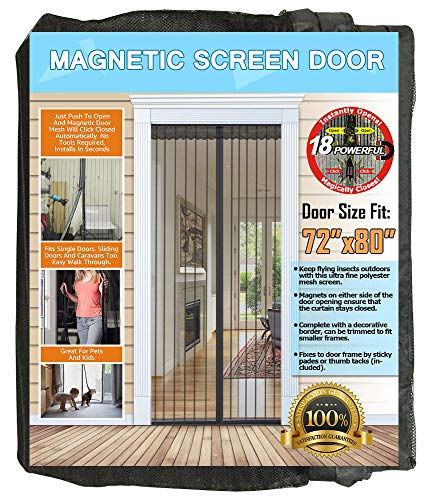 51EgbFNqAzL - 7 Best Magnetic Screen Doors for Keeping Bugs Out Of Your Home