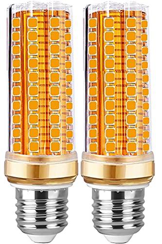 Lampadine LED E27 Luce Calda 20W - Lampadina E27 LED Caldo di mais equivalenti 200W incandescenza,Bianca Led 3000K 2000lm, Nessun Sfarfallio Edison mais Lampadina non dimmerabile 2 Pezzi