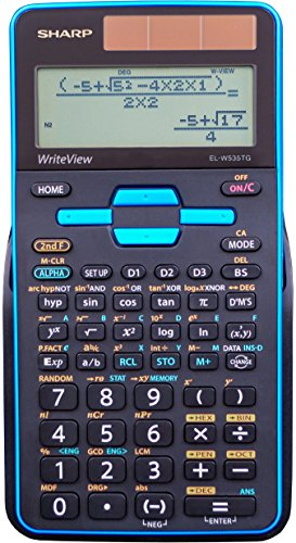 Sharp EL-W535TGBBL Scientific Calculator with WriteView™ 4...