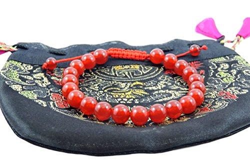 Hands Of Tibet Carnelian Wrist Mala/Bracelet for Meditation