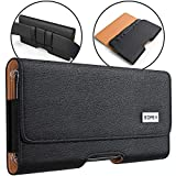 BOMEA Samsung Galaxy S10e S7 Belt Clip Case, Premium Galaxy S10e S7 Leather Holster Case with Belt Clip and Loops Cell Phone Pouch Case (Fits Phone with Otterbox Lifeproof Mophie Case On)