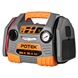 POTEK Car Jump Starter with 150 PSI Tire Inflator/Air Compressor,1000 Peak/500 Instant Amps with USB Port to Charge iPhone ,IPad, Kindle