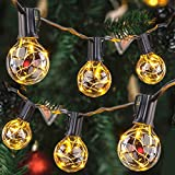 Afirst LED Outdoor String Lights 38 Feet with 30+3 Edison Bulbs Commercial Grade String Lights for Patio Porch Backyard Party Wedding Lighting