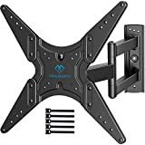 PERLESMITH TV Wall Mount for Most 26-55 Inch Flat Curved TVs with Swivels, Tilts & Extends 19.5 Inch...