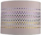 Multi-Color Hexagon Embroider Drum Shade 14x14x11 (Spider) - Springcrest